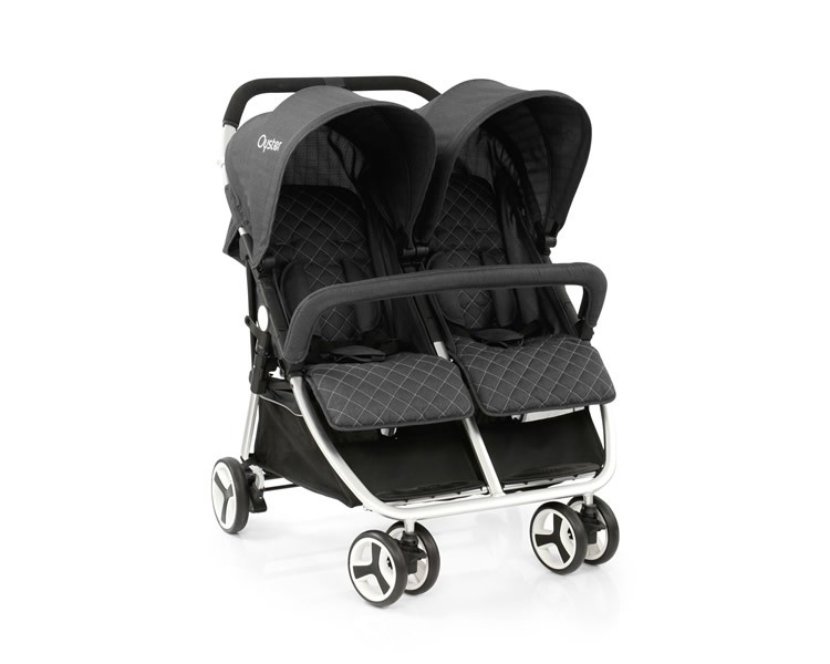 Oyster-Twin-stroller-tungsten-grey