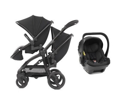 Egg twin stroller one car seat combo