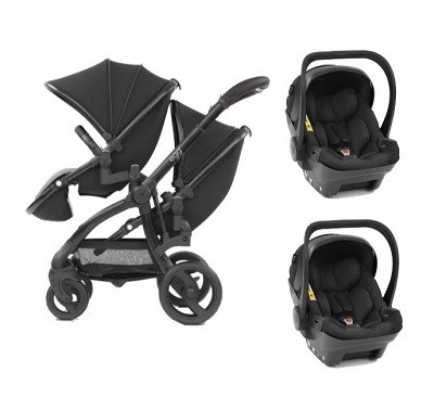 Egg twin stroller two car seat combo