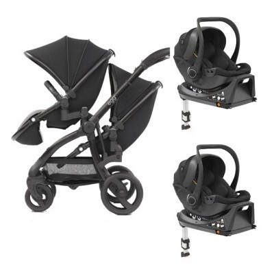 Egg twin stroller two car seat isofix combo