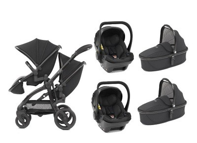 Egg twin stroller two carry cot two car seat combo