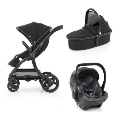 EGG2 3IN1 JUST BLACK WITH CARRY COT