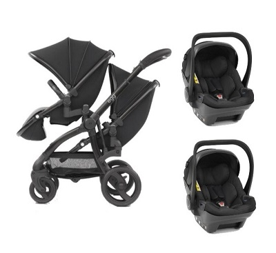 Egg Twin Stroller / Two Car Seat Combo