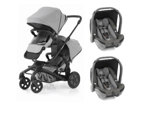 HYBRID2 Twin Stroller + 2 Oyster Car Seats