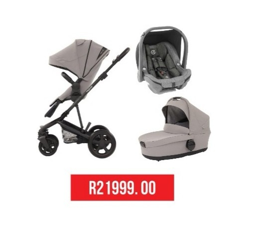 3 in 1 Stroller + Oyster Car Seat + Carry Cot