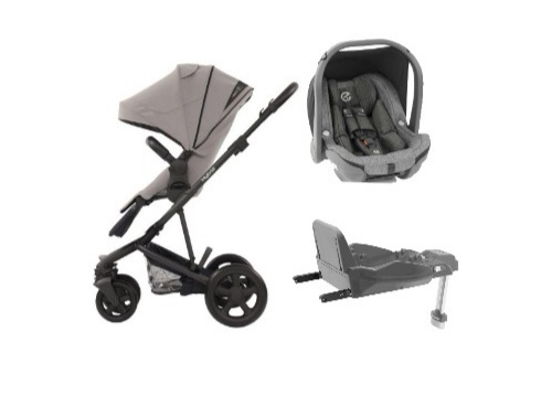 3 in 1 Stroller + Oyster Car Seat + Isofix