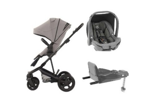 HYBRID2 3 in 1 Stroller + Oyster Car Seat + Isofix
